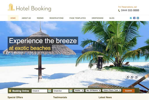 Hotel Booking - Best Real Estate WordPress Theme 2012