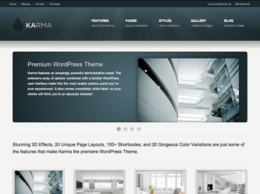 Karma - Best HTML5 WordPress Theme 2012