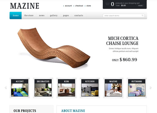 Mazine - Best Ecommerce WordPress Theme 2012
