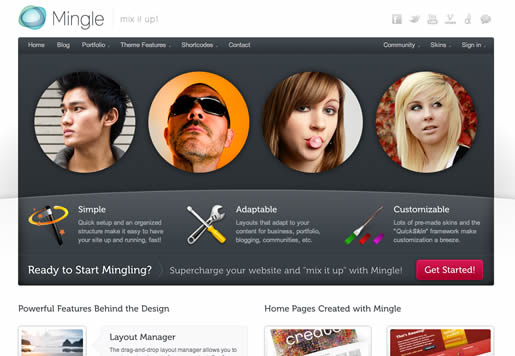Mingle - Best BuddyPress WordPress Theme 2012