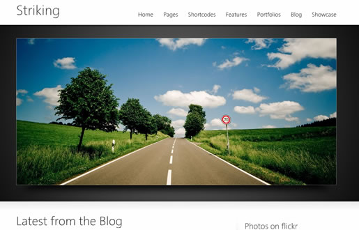 Striking - Best HTML5 WordPress Theme 2012