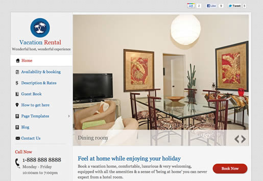 Vacation Rental - Best Real Estate WordPress Theme 2012