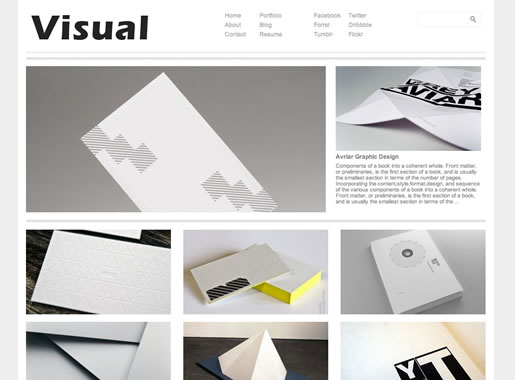 Visual - Best Free WordPress Theme 2012