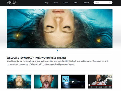 Visual - Best HTML5 WordPress Theme 2012
