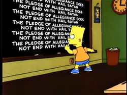 Bloggers should include details like Bart's chalkboard writings