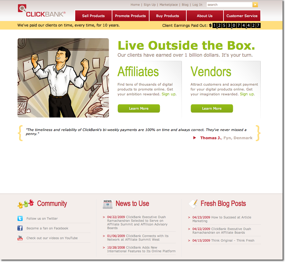 Clickbank.com In 2009