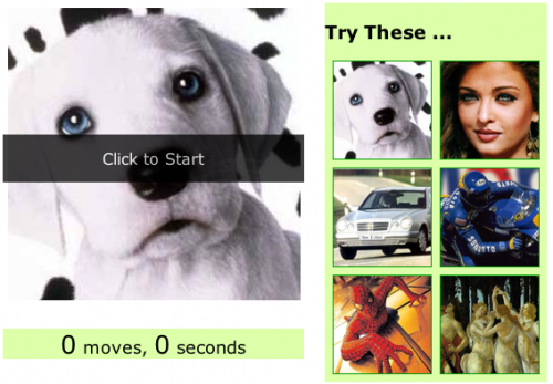 Image Puzzle Using jQuery