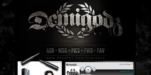 Creative Hip Hop Website Designs