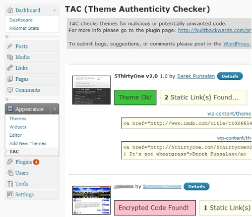 TAC (Theme Authenticity Checker)