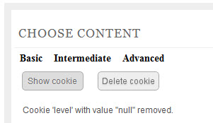 Using cookie with jQuery