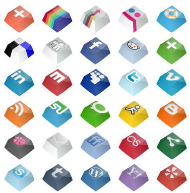 Social Keys Icon Set