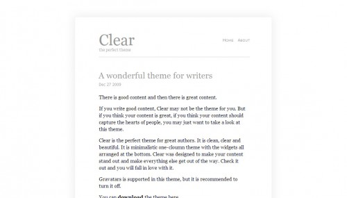 Clear-Wordpress-Theme