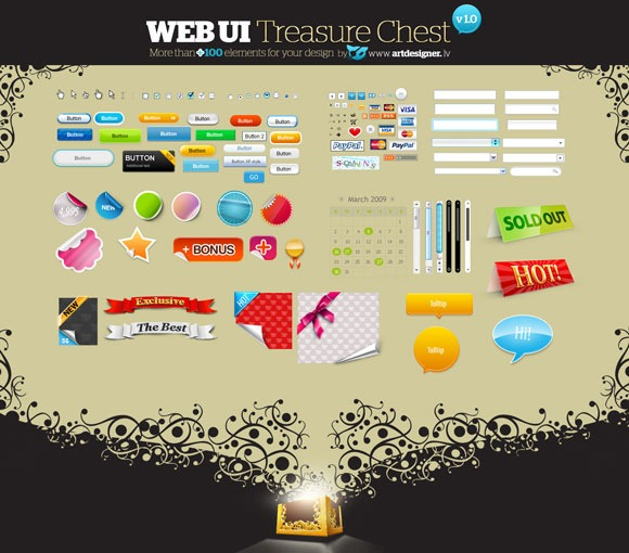 WEB-UI-Treasure-Chest