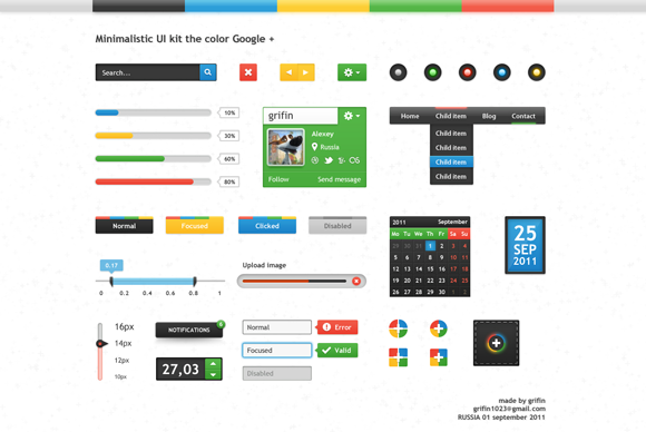 google-plus-color-ui-kit