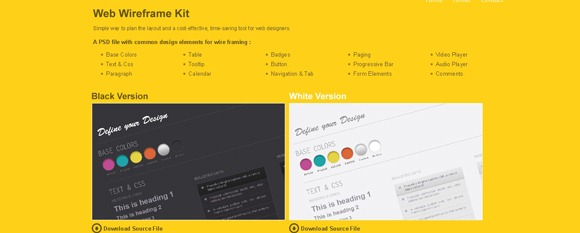 web-wireframe-kit