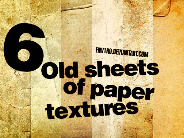 6_Old_sheets_of_paper_textures_by_env1ro