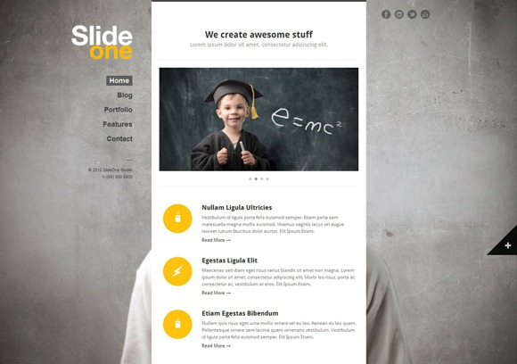 Slide One - Single Page WordPress Theme 2012