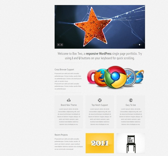 Box Two - Single Page WordPress Theme 2012