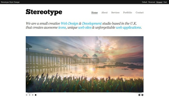 Stereotype - Single Page WordPress Theme 2012