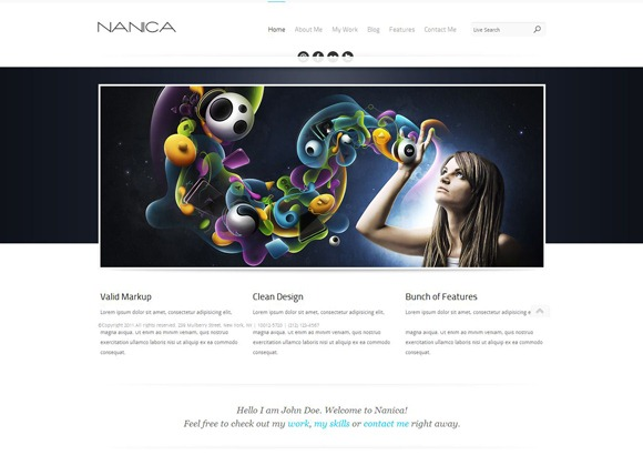 Nanica - Single Page WordPress Theme 2012