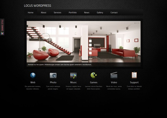Locus - Single Page WordPress Theme 2012