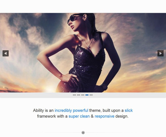 Ability - Single Page WordPress Theme 2012
