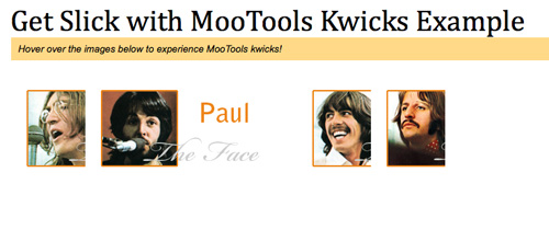 davidwalsh - Get Slick with MooTools Kwicks Example