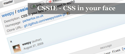 CSSIE - CSS in your face
