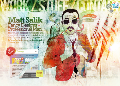 Matt Salik Freelance Website Graphic Design