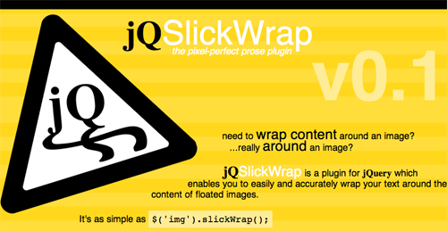 jQSlickWrap - Slick text wrapping for jQuery
