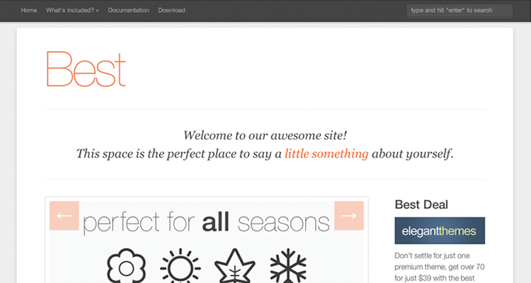 Best Free WordPress Theme 2012
